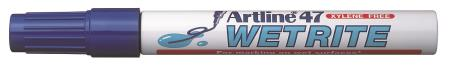 Marqueur permanent Wetrite 47 1,5mm bleu.