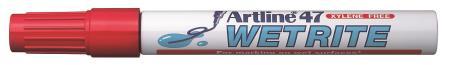 Marqueur permanent Wetrite 47 1,5mm rouge.