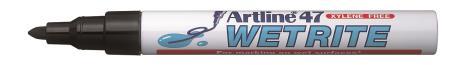 Marqueur permanent Wetrite 47 1,5mm noir