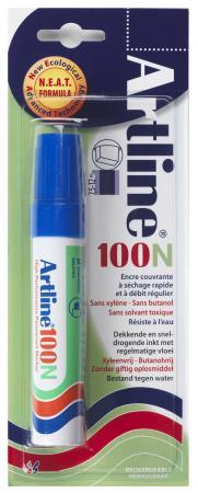 Marqueur permanent NEAT 100 7,5-12mm bleu. Blister