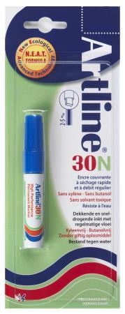 Marqueur permanent NEAT 30 2,0-5,0mm bleu. Blister