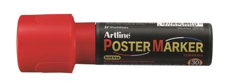 Marqueur Poster Marker 30,0mm rouge