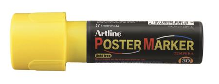 Marqueur Poster Marker 30,0mm jaune fluo