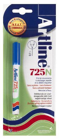 Marqueur permanent NEAT 725 0,4mm bleu. Blister