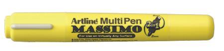 Marqueur multi-usages à double pointe Massimo 25T 2,0-5,0mm noir