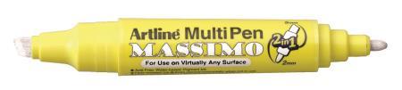 Marqueur multi-usages à double pointe Massimo 25T 2,0-5,0mm blanc