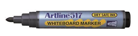 Marqueur tableau blanc Drysafe 517 2,0mm noir