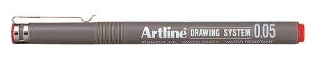 Feutre Drawing Pen 2305 0,05mm rouge
