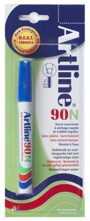 Marqueur permanent NEAT 90 2,0-5,0mm bleu. Blister