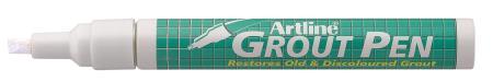 Marqueur Groutpen 419 2,0-4,0mm blanc. En présentoir de 18 pièces