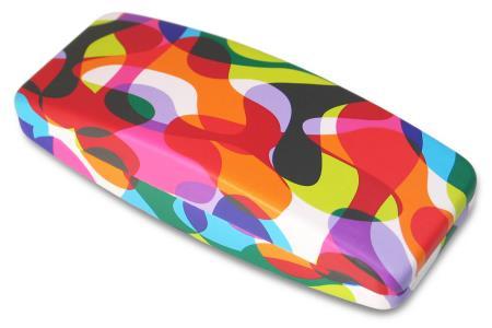 "Etui à lunettes rigide ""Blobnik"". Etui de protection et boîte cartonnée."