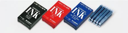 Boîte de 10 cartouches standard d'encre bleu noire.