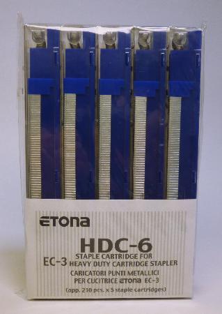 Agrafes pour EC-3. Capacité de 1-25 feuilles.