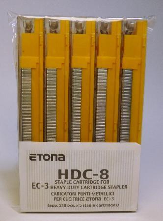 Agrafes pour EC-3. Capacité de 26-40 feuilles.