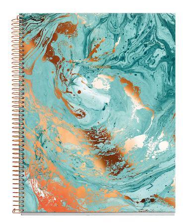 Carnet de note quadrillé MR Mineral Copper Square avec couverture cartonnée. Reliure à spirales. Format A4
