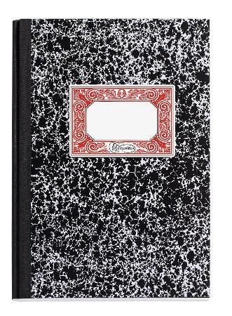 """Carnets de note ligné """"MR. MIQUELRIUS"""" . Format 154 x 207mm. Noir vintage."""