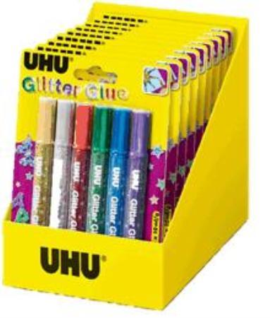 Colle à paillettes Glitter Original. Display de 10 pièces.