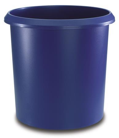 Corbeille à papier 18L. Bleu.
