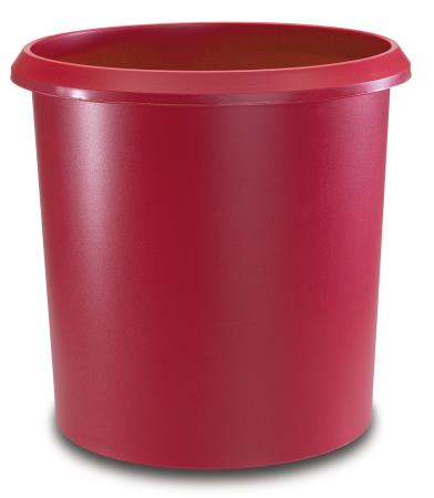 Corbeille à papier 18L. Rouge.