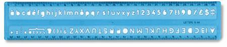 Normographe 6mm pour stylo-bille. Pochette blister.