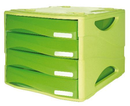Bloc à courrier avec 4 tiroirs. Série