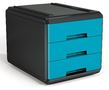 Mini Bloc à courrier My Desk. Turquoise et noir.