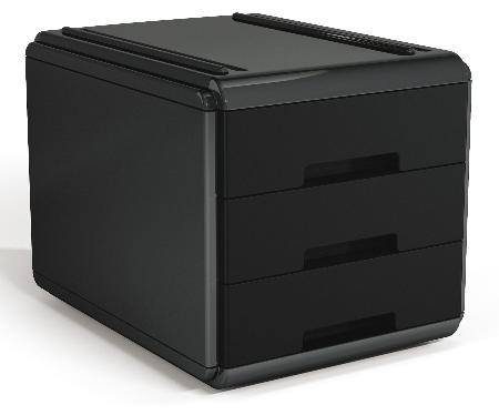 Mini Bloc à courrier My Desk. Noir et noir.