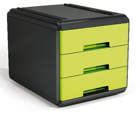 Mini Bloc à courrier My Desk. Vert et noir.