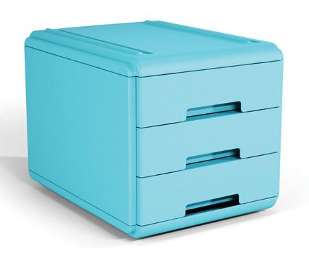 Mini bloc à tiroirs. Bleu clair.