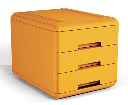 Mini bloc à tiroirs. Orange.