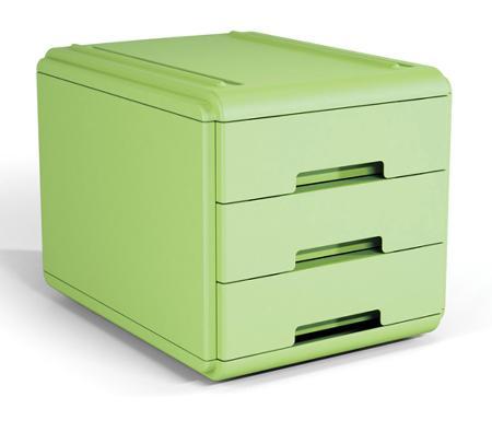 Mini bloc à tiroirs.Vert.