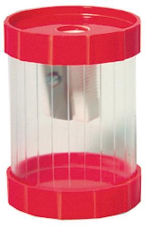 Taille-crayon 1 trou cylindrique. Coloris assortis transparent.