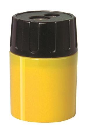 Taille-crayon 1 trou cylindrique. Coloris assortis.
