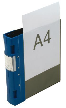 Classeur Ergogrip avec pochette 55mm A4+. Bleu.
