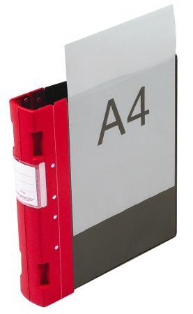 Classeur Ergogrip avec pochette 55mm A4+. Rouge.