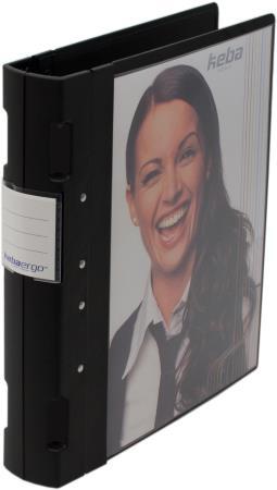 Classeur Ergogrip avec pochette 55mm A4+. Noir.