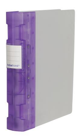 Classeur Frost 55mm A4+. Violet translucide.