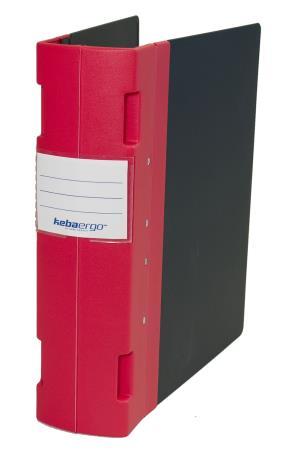 Classeur Ergogrip Jumbo 80mm A4+. Rouge.