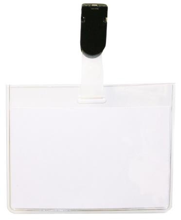 Badges visitor clip 60 x 90mm. 50 pièces.