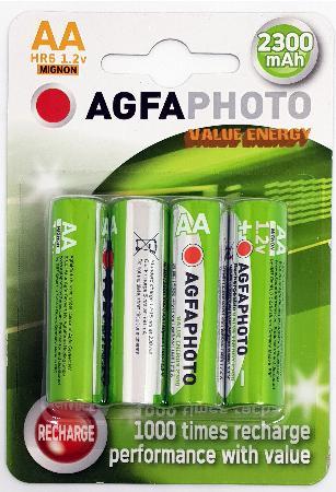Piles rechargeables LR06. Blister