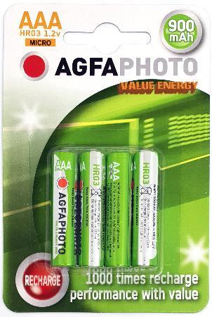 Piles rechargeables LR03. Blister